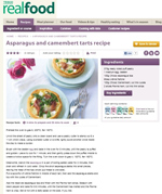 Asparagus and Camembert Tart Recipe