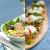 Tuna Salad Nicoise and Egg Crostini