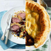 Rack of Lamb Salad and Beef Wellington Pie
